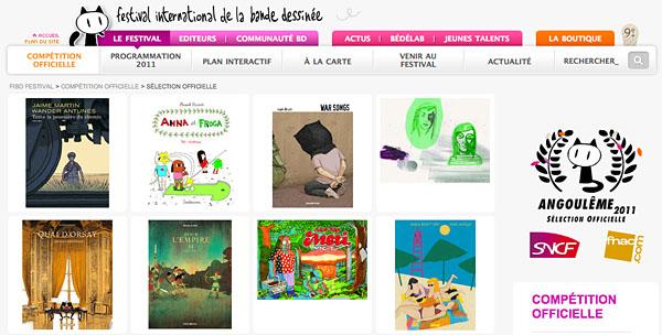 Toute la poussière du chemin, en la selección oficial Angoulême 2011