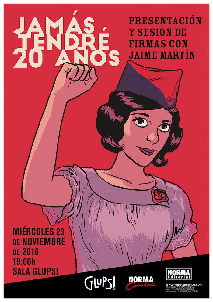 """Parte de guerra #2: presentación de """"Jamás tendré 20 años"""" en Barcelona."""
