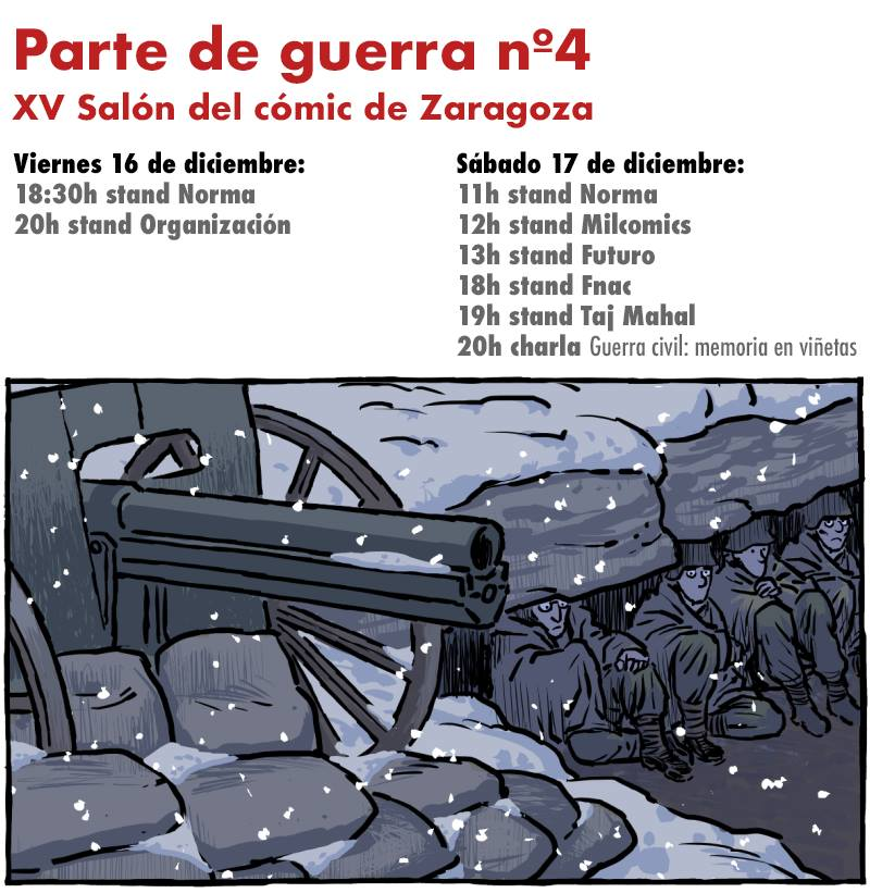 Parte de guerra #4: XV Salón del cómic de Zaragoza